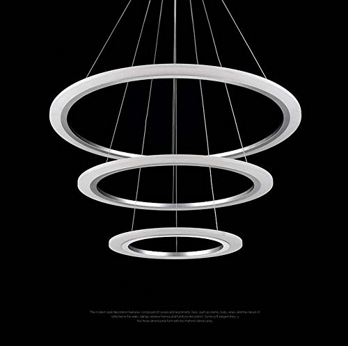 GJX Moderne/hedendaagse LED-hanger, acryl, minimalistisch, eetkamer, woonkamer, rond, modieus, creatief, hanglampen (kleur: wit/licht, grootte: 60 cm x 80 cm x 100 cm)