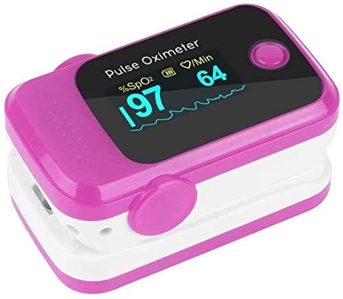 Pulse Oximeter-Blut-Sauerstoffmessgerät Finger Fingerspitze Tragbares Sauerstoffmonitor Precise Lesen Spo2 Perfusionsindex Blut-Sauerstoff für Familie Gesundheit,Rose Red