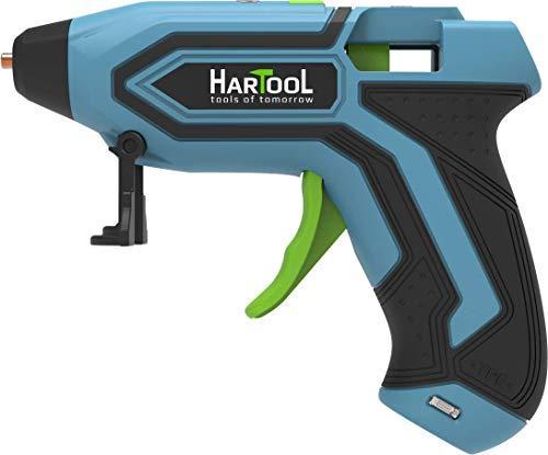 HARTOOL Akku-Heißklebepistole 3.6 V Lithium-Ionen-Heißkleber Pistole mit USB-Ladegerät, 30 Klebesticks 7 mm Heißklebestift DIY Handgefertigte Heißklebepistole