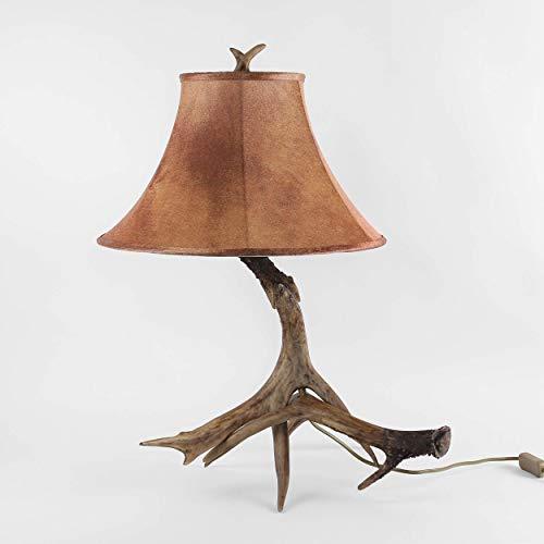 Tischleuchte Geweih aus Resin braun Landhaus Stil Jäger Jäger Leuchte Lampe