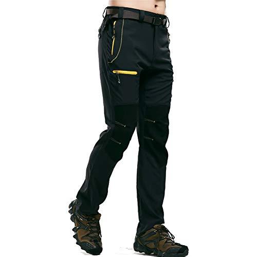 Outdoor Peak Herren Fahrrad Langarm Radhose/beiläufige Hosen/sehr leicht atmungsaktiv/für Sommer und Frühling (schwarz, L)