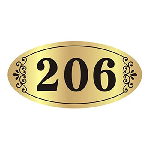 Personalised House Sign Address Yard Plaque Self-Adhesive Acrylic House Name Plate Engrave House Number Room Number Custom Front Door Number Signage for Door Home Hotel