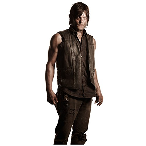 Norman Reedus in The Walking Dead as Daryl Dixon Looking Smoldering Dressed in all Brown with Knife 8 x 10 Inch Photo
