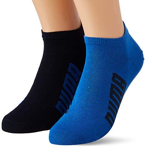 PUMA BWT Lifestyle Sneaker-Trainer Socks (2 Pack) Calzini, Blu Navy/Grigio/Blu Forte, 39-42 Unisex-Adulto