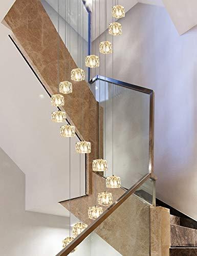 Multi luci a spirale scale lampadario in vetro palle bar ristorante personalità creativa portico luci navata semplice moderna luce del pendente lampadario lungo