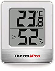 ThermoProサーモプロ 湿度計 温度計 温湿度計 湿度計室内 大画面 コンパクト 顔マーク 壁掛け 卓上スタンド マグネット TP-49