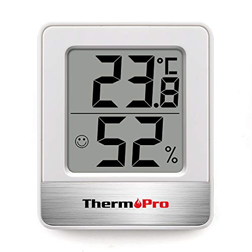ThermoPro温度計 湿度計室内 小さい温湿度計デジタル 見やすい ホワイトTP-49