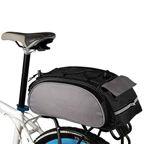 TopHGC 13L Borsa Portapacchi Posteriore per Bici Impermeabile, Borsa Posteriore per Bauletto Borsa per Sport Allaperto Mountain City Road MTB Accessori per Biciclette Borsa a Tracolla Borsa