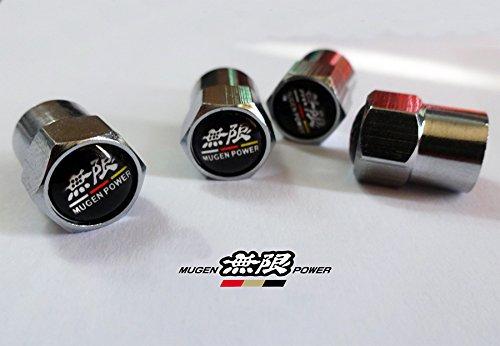 RacePace Lot de 4 Bouchons de Valve chrom/és de HR-V CR-V Jazz Civic Type-R Accord Fit Jazz NSX S2000 Haut