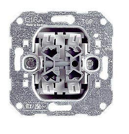 GIRA System 55 Standard E2, Reinweiß glänzend, Steckdose Schalter Rahmen Wippe (010800 Wechsel-/Wechselschalter, 1 Stück)