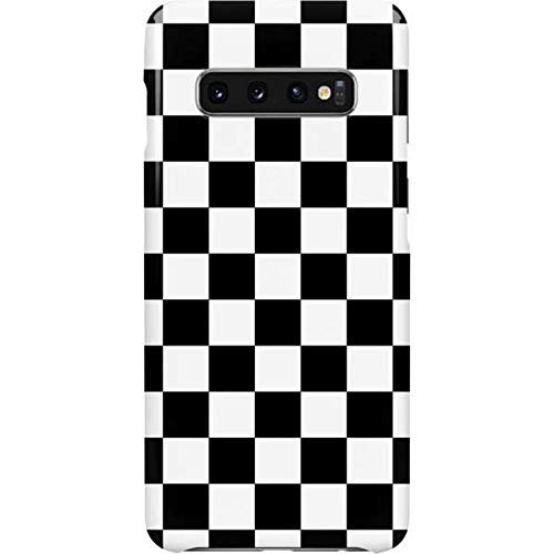 Skinit Lite Phone Case Compatible with Galaxy S10 Plus - Officially Licensed Skinit Originally Designed Black and White Checkered Design