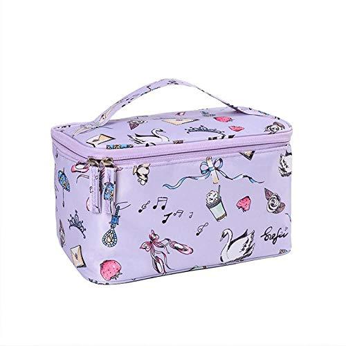 Cosmétique Sac Femmes Voyage Make Up Nécessaires Organisateur Zipper Maquillage Cas Pochette Trousse De Toilette Bags24 * 16 * 14 cm-Sky_Blue_Swan_24 * 16 * 14 cm