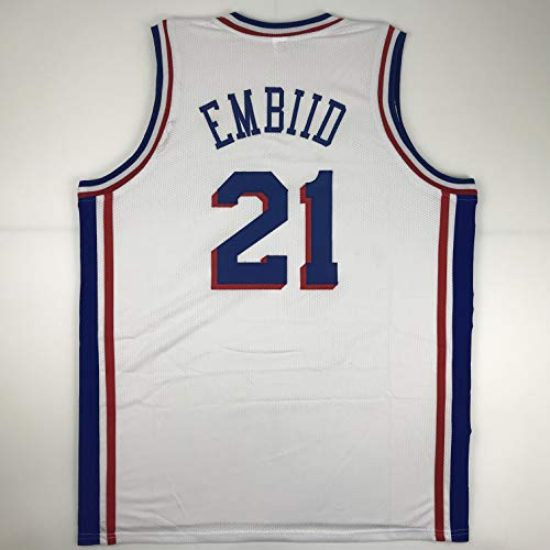 Unsigned Joel Embiid Philadelphia White Custom Stitched Basketball Jersey Size Men's XL New No Brands/Logos