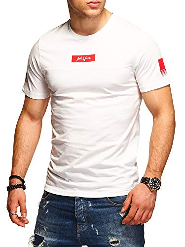 JACK & JONES Herren T-Shirt O-Neck Print Shirt (L, Cloud Dancer)