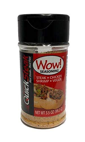 Wow! Seasoning   All-Purpose   Gluten Free   No MSG   Best Meat Seasoning - Great on Steak, Chicken, Seafood, Veggies & More   Perfect Philly Seasoning