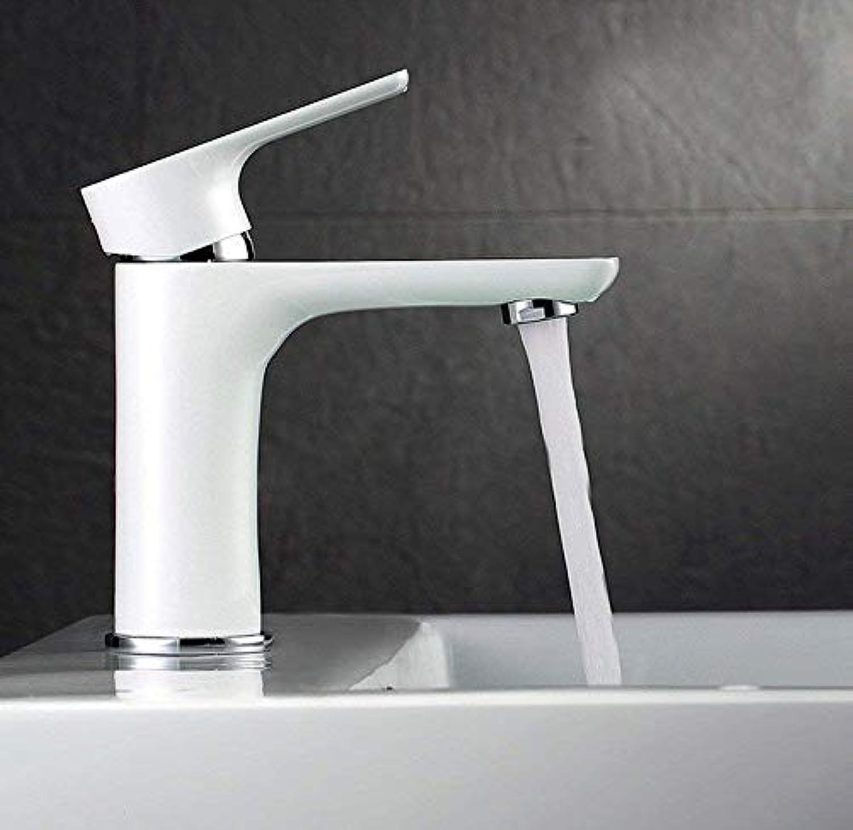 JONTON Faucet bathroom sink faucet faucet single handle bathroom sink faucet solid brass basin faucet white
