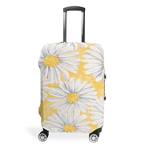 Sunflowers White Daisy Flowers Suitcase Covers Luggage Cover Luggage Suitcase Protective Case Anti-Scratch Suitcase Cover Luggage Cover