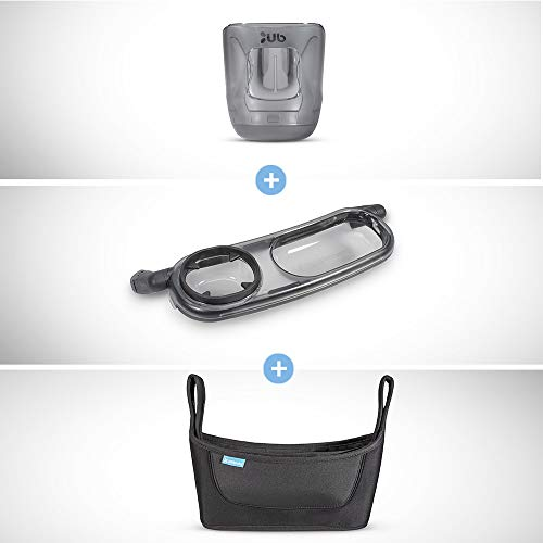 2018 UPPABaby Vista/Cruz Accessory Bundle - Cup Holder/Snack Tray/Parent Carry-All