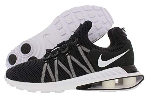 Nike Men's Shox Gravity Ankle-High Running Shoe - 10.5M - Black/White-White