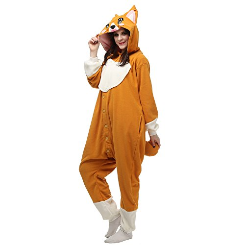 Corgi Onesies for Women Animal Unisex Adult Pajamas Cosplay Costumes Sleepwear XL