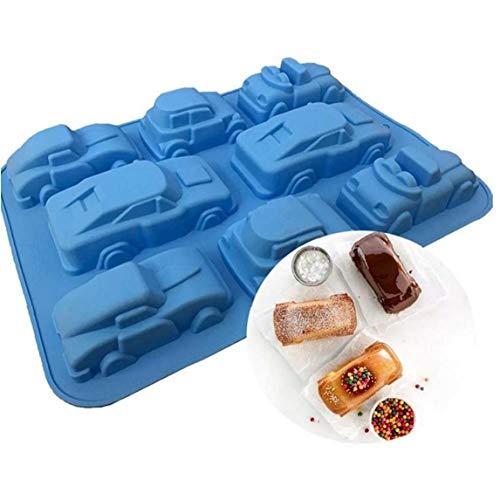 LAVALINK Fudge Mousse decoración de la Torta del Molde 3D Jabón de Coches cartón Chocolate Torta del Molde de Silicona del Molde de pastelería Bandeja de Horno para Hornear Herramientas