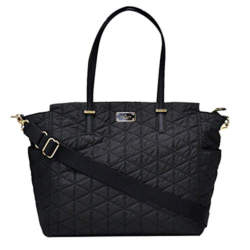 Kate Spade New York Wilson Road Quilted Kaylie Baby Diaper Bag (Black), X-Large