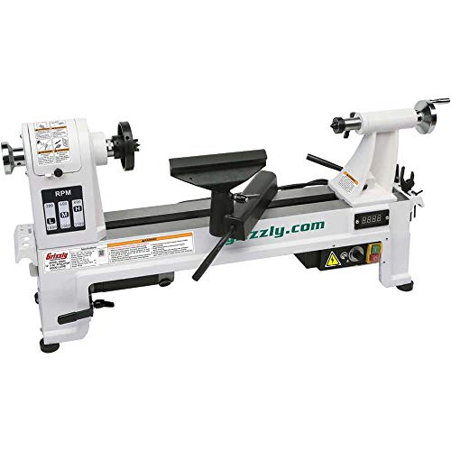 """Grizzly Industrial G0844-14"""" x 20"""" Variable-Speed Benchtop Wood Lathe"""
