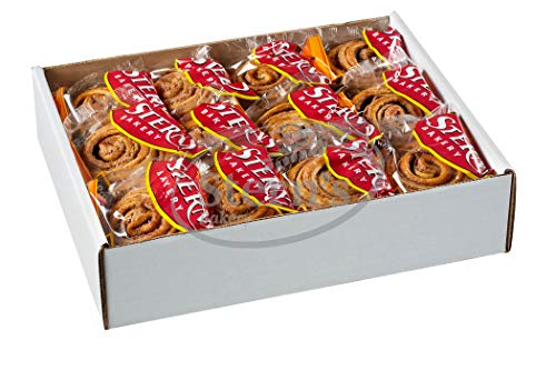 Cinnamon Buns Breakfast Pastry | 24 Cookies Individually Wrapped | Cinnamon Rolls Snack Cakes | Coffee Snacks | On the Go Snacks for Kids & Adults | Holiday, Parties | 36 oz Stern's Bakery(Cinnamon Bun Pastries)