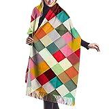 Bufanda de mantón Mujer Chales para, Pass This On Bufanda cálida de invierno para mujer Moda Bufandas largas grandes y suaves de cachemira Mantón
