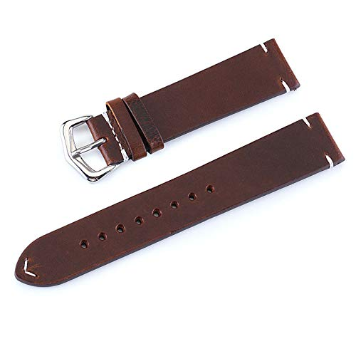 18MM 19MM 20MM 21MM 22MM 24MM Retro Kalbsleder-Uhrenarmband-Uhrenarmband-Lederarmband Uhrenarmbänder Gürtel mit Frühlings-Pins