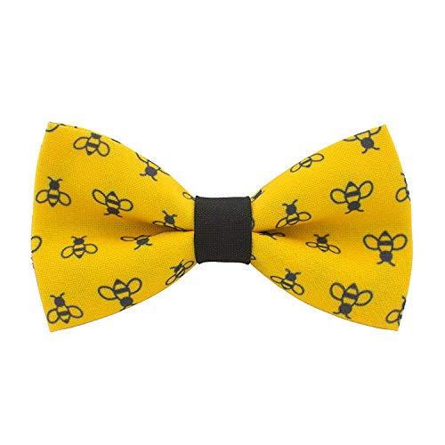 Bow Tie House Honig-Bienen Fliege vorgebundene gelb-schwarz farbe unisex muster (Mittel, Gelb Biene)