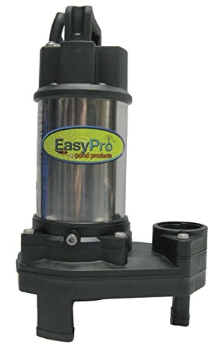 EasyPro Pond Products TH750 6000 GPH Stainless Steel Waterfall and Stream Pump, 115V