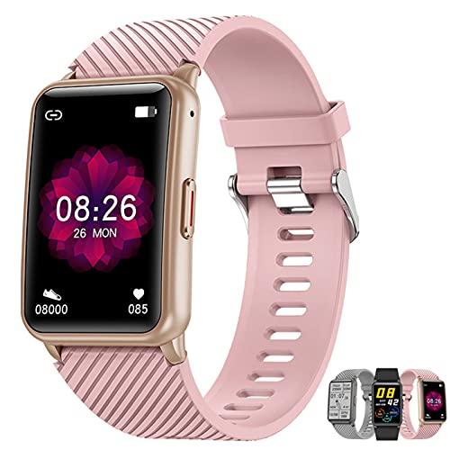 APCHY Smart Watch Reloj Inteligente,Fitness Tracker of Bluetooth Llamada Música Local Reproducción Modo Multi-Deportes Monitoreo De Salud Ritmo Cardíaco Y Blood Oxygen Deporte Pulsera,Rosado