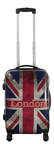 Warenhandel König Polycarbonat Hartschalen Koffer Trolley Reisekoffer Reisetrolley Handgepäck Boardcase Motiv PM (UK London, Größe M)