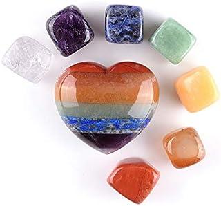 Pietra Naturale di Quarzo Rosa a Forma di Cuore per guarigione Chakra Ornamento con Base in Legno Cristallo Feng Shui per guarigione Reiki CrystalTears Decorazione per la casa