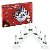 Idena 8582067 - Candelabro de Adviento (con 7 luces), color blanco