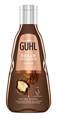 Guhl Braun Faszination Shampoo - Mit Kukuinuss-Öl - Geschmeidigkeit Für Ein Natürliches Oder Coloriertes Braun, 250 Ml