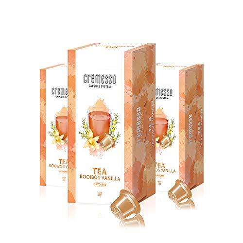 Cremesso Tea Rooibos Vanilla, 16 Kapseln, 3er Pack