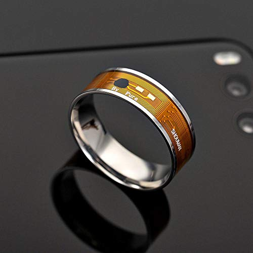 leegoal NFC Smart Multifunktions Ring, Smart-Armband, intelligente Armbanduhr, Smart-Watch, NFC-Verschleißring für Android und Windows Phones #3(0.75*0.75*0.03inch)