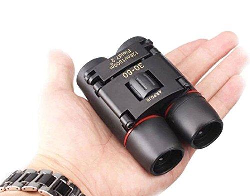30x60 Kompakt Mini Fernglas Nachtsicht kraftvolles Faltteleskop mit Reinigungstuch und Tragetasche, leichtes und klein feldstecher für Erwachsene, Kinder, Safari, Zoom und Astronomie