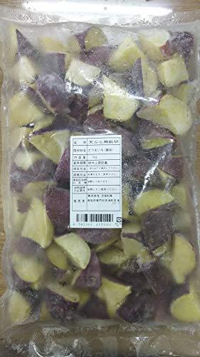 国産 さつまいも 乱切り ( 鳴門金時 ) 1kg×10P ( P約40個 ) 冷凍 天ぷらに人気です。