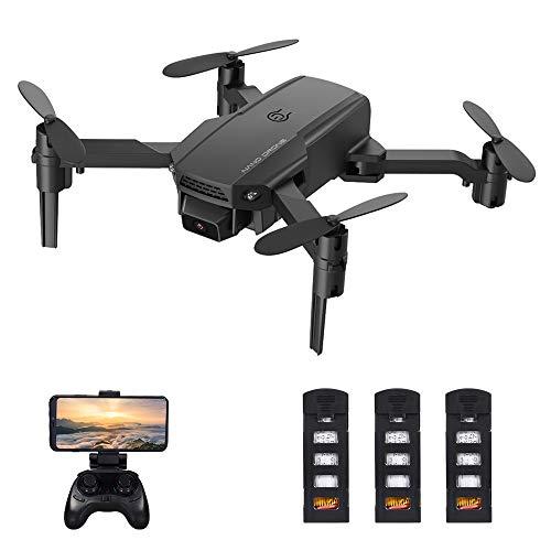 Festnight KF611 RC Drohne mit Kamera 4K Mini Faltbares Quadcopter Indoor Spielzeug für Kinder mit Funktion Flugbahn Flug Headless Modus 3D Flug Auto Hover mit 3 Batterien
