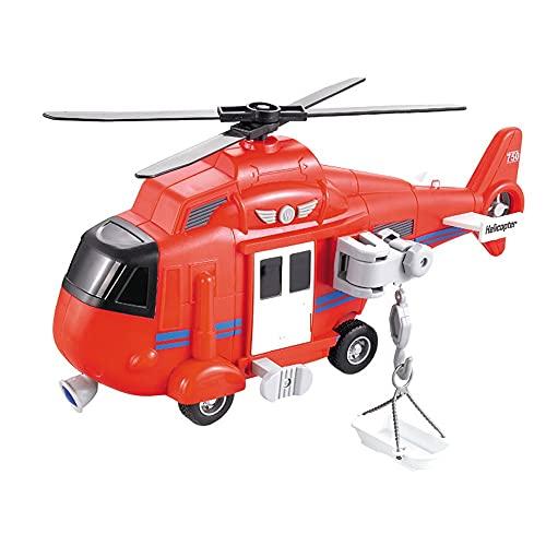 Yjdr speelgoedauto Juguete Modelo de helicóptero de Rescate de simulación, Rompecabezas de inercia hacia adelante, Coche de Juguete Grande para niños, Regalos de cumpleaños para niños y niñas