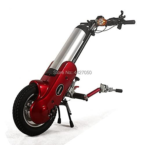 ZJN-JN Silla de Ruedas Nuevo Ultra Light Llame a la Silla de Ruedas de Fibra de Carbono para Persona discapacitada (Color : Electric handbike)