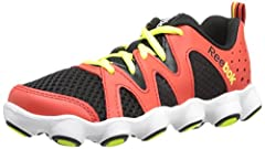 Low-cut running shoe featuring breathable mesh underlays and durable overlays High-abrasion rubber outsole with 19 ATV-inspired lugs