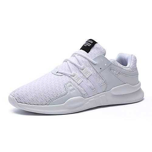 SITAILE Laufschuhe Herren Damen Sportschuhe Straßenlaufschuhe Sneaker Joggingschuhe Turnschuhe Walkingschuhe Traillauf Fitness Schuhe,46 EU,Weiß