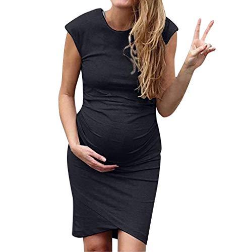 Vectry Ropas Embarazada Vestidos para Premama Vestidos Largos Casual Verano Vestidos Mujer Verano 2019 Casual Vestidos de Fiesta Largos de Noche Elegantes Vestido Negro