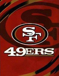 SAN FRANCISCO 49ERS ROYAL PLUSH RASCHEL BLANKET KING SIZE