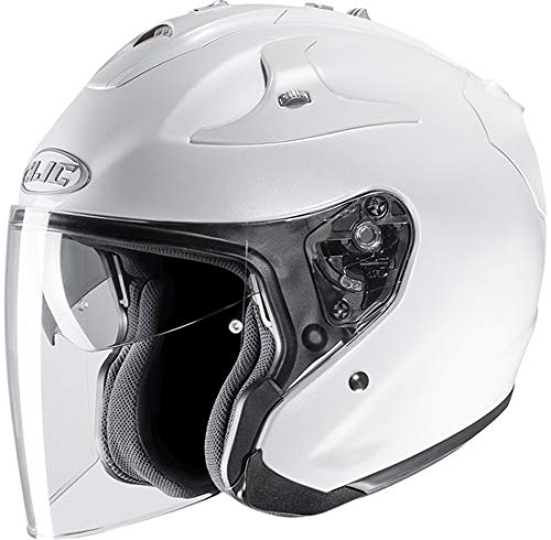HJC 141129XXL - Casco de moto, color blanco perla, XXL