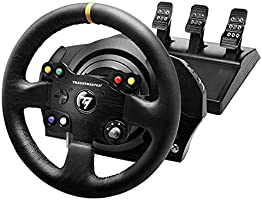 Thrustmaster TX Racing Wheel Leather Edition, Volant de Course et Pédales, Xbox Series X|S, One et PC, Retour de Force,...